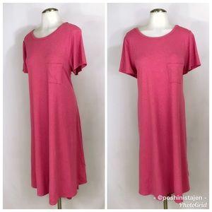 🆕 LuLaRoe Dark Pink Carly Dress in Size XL